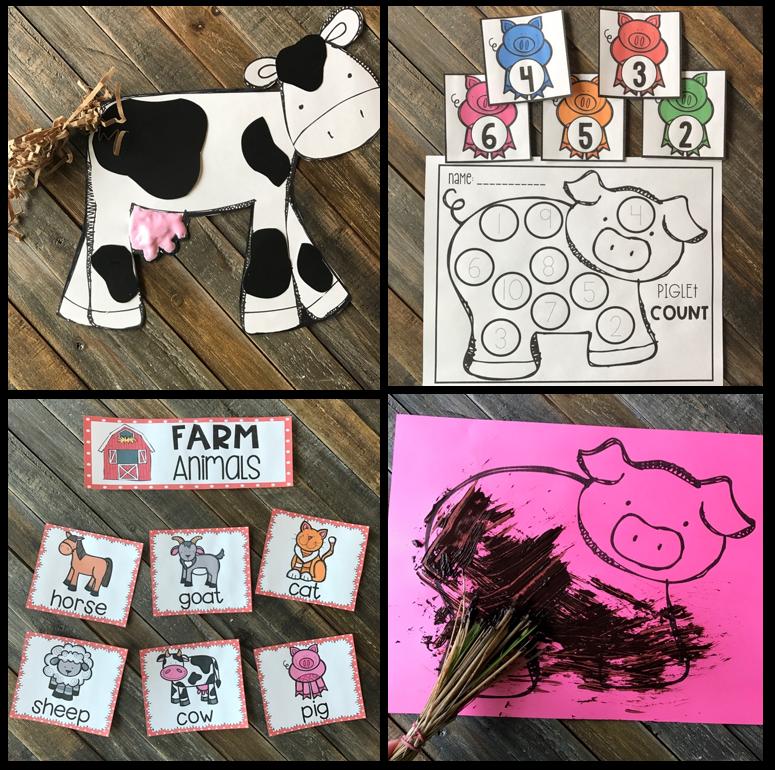 Farm Hands On Activities for Preschool