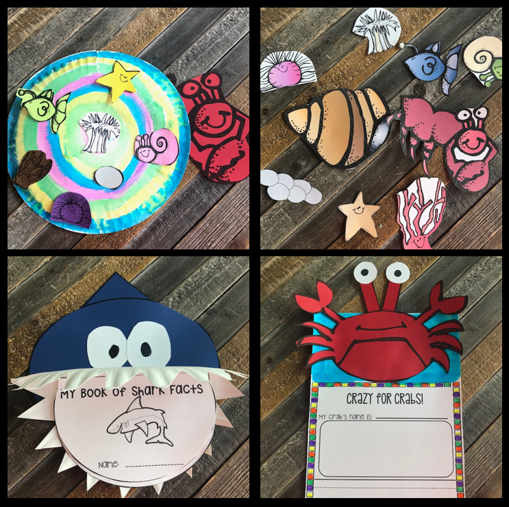 Ocean Math and Literacy Centers, Crafts and Activities