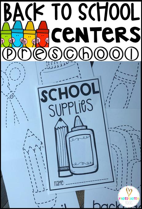 Back to School Hands On Centers for Preschool - Kindergarten Rocks ...