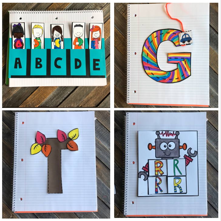 Interactive Uppercase ABC Notebooks to Introduce and Review Letters for Preschool and Kindergarten