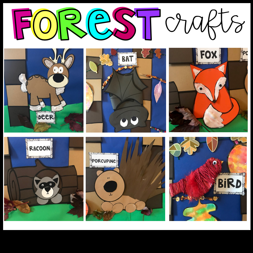 Forest Activities and Crafts for Kids with Visual Directions Preschool and Kindergarten