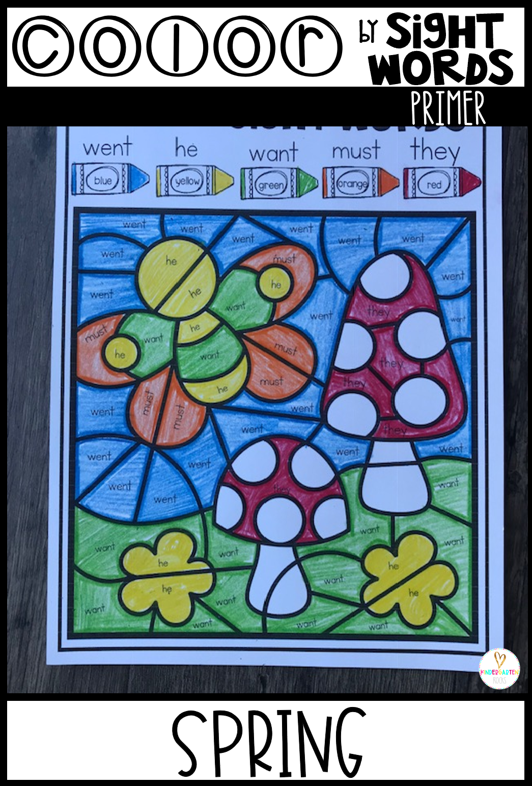 Spring Sight Word Activities Color by Sight Words Primer is a fun and engaging way to practice sight words with your kindergarten and first grade students. This set has 5 EDITABLE pages. Students will work on sight word identification and spelling all in one activity. Color by sight word activities are perfect for small groups, independent work, morning work, homework, homeschooling and reading intervention.