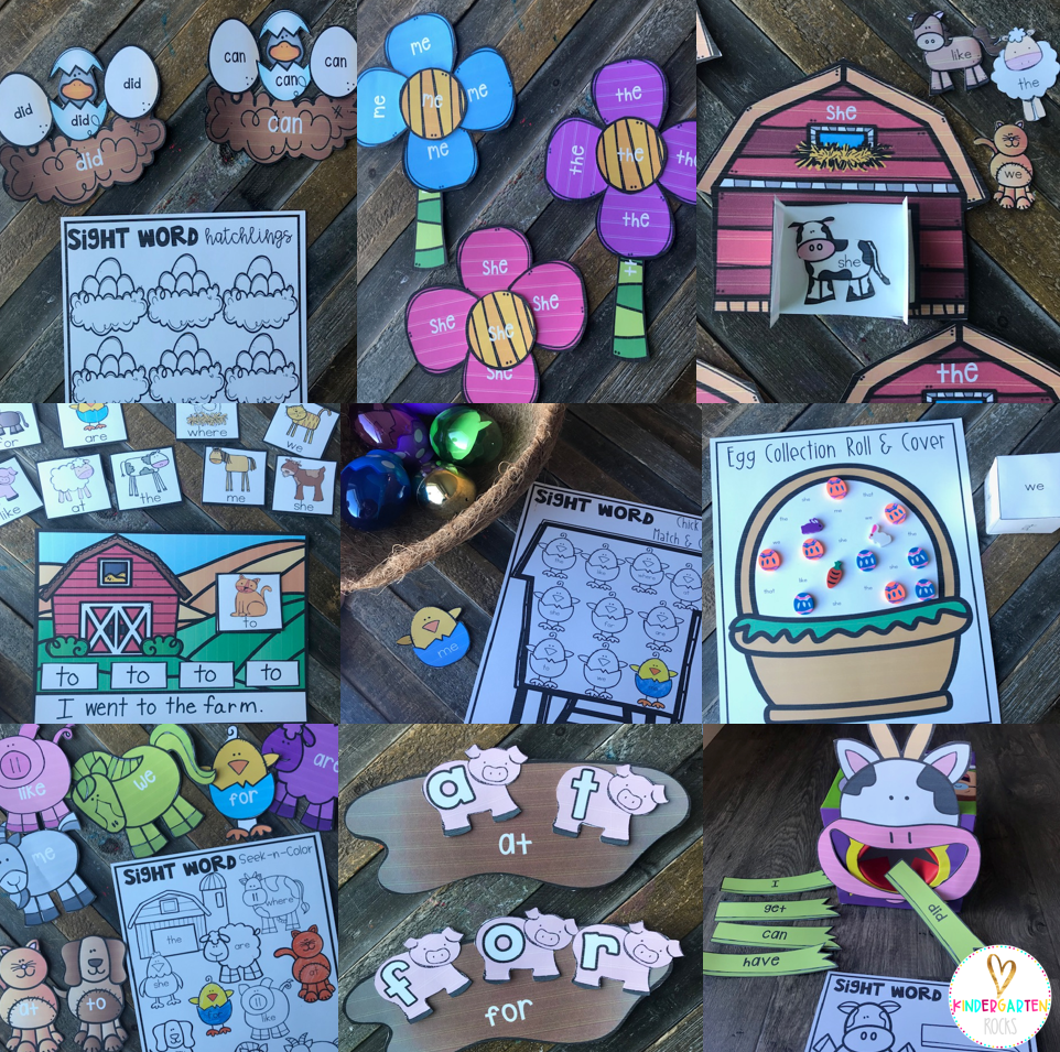 Spring Sight Word Games and Activities for April (Editable)
