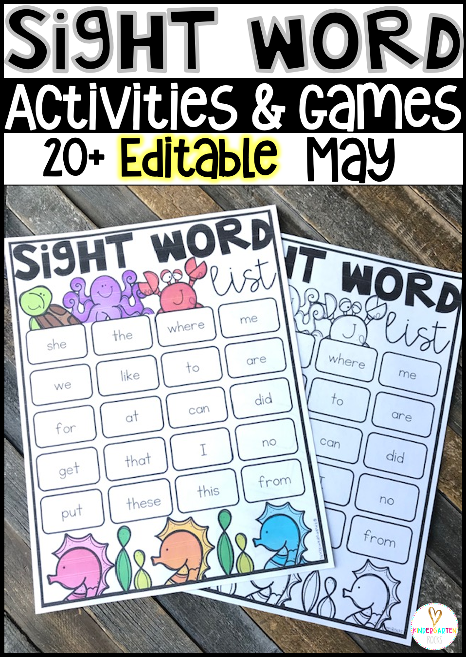 Are you looking for spring sight word activities that you can change to meet the needs of your kindergarten and/or first grade children? Then, you will love Spring Sight Word Games, Printables and Activities for May.