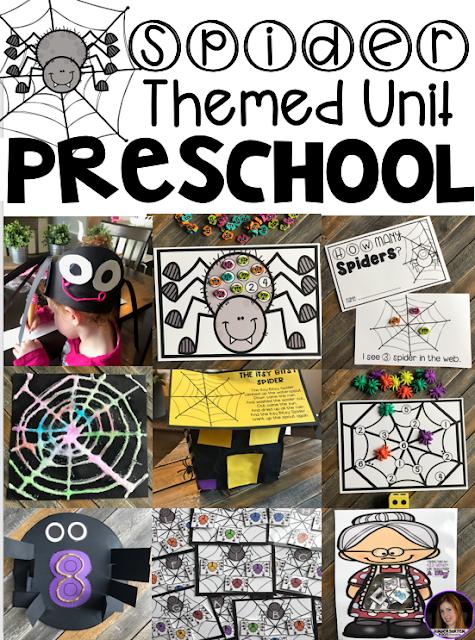 Hands on Spider Centers and Activities for Preschool