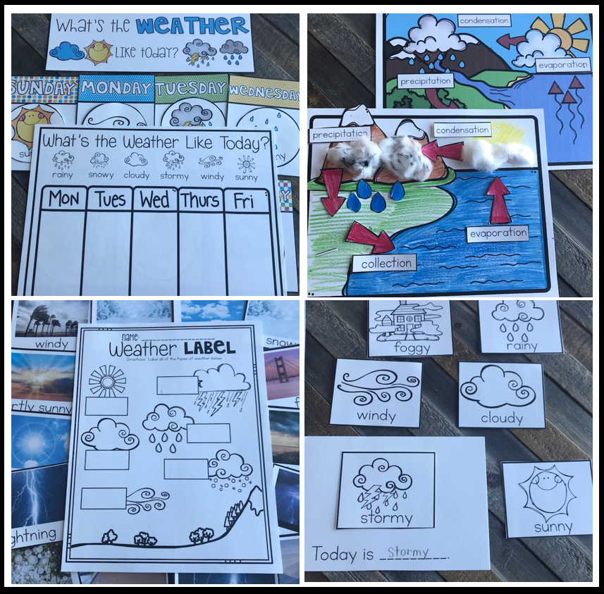 Weather Activities for Kindergarten and First Grade {20+}