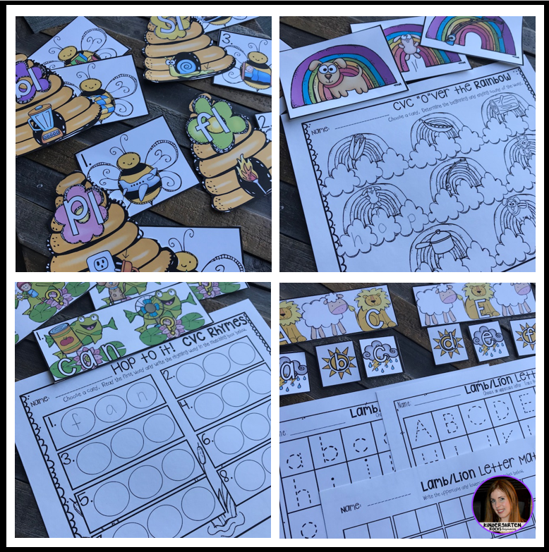 Spring into March Math and Literacy Centers for Kindergarten