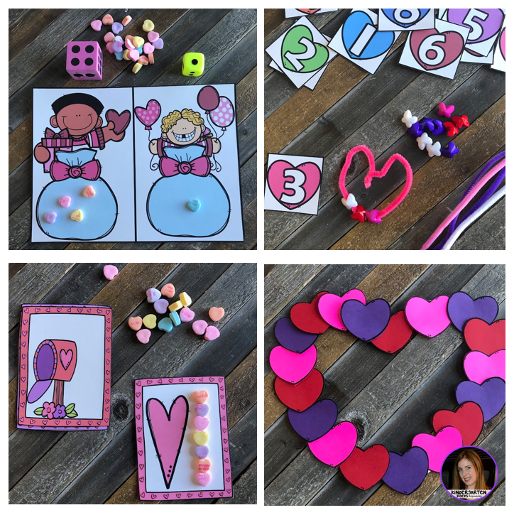 Valentine's Day and February Math and Literacy Centers for Preschool