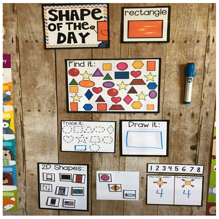 Shape Activities for Preschool and Kindergarten ~Shape of the Day Calendar Companion