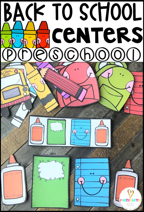 Are you looking for fun back to school activities for preschool and kindergarten that are easy to prep?  Then you will love our Back to School Preschool Centers and Activities.