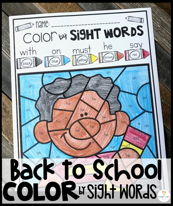 Are you looking for Back to School Printables that students will look forward to while working on important skills?  Color by Code Back to School Printables are the perfect way to help children look closer at important concepts and build fine motor skills at the same time.