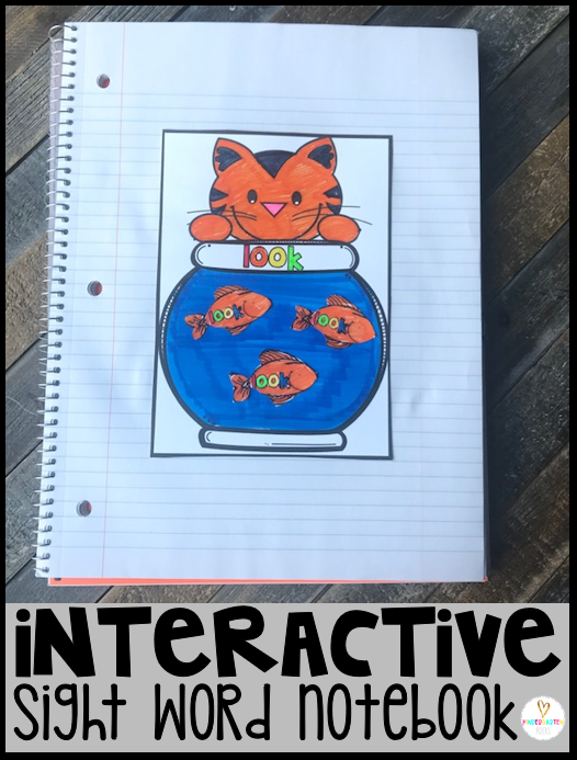 Are you looking for sight word activities for kindergarten that the children will be able to take home and share with families?  Interactive Sight Word Notebooks, are exactly what you need to introduce and continue to practice sight words with your students.