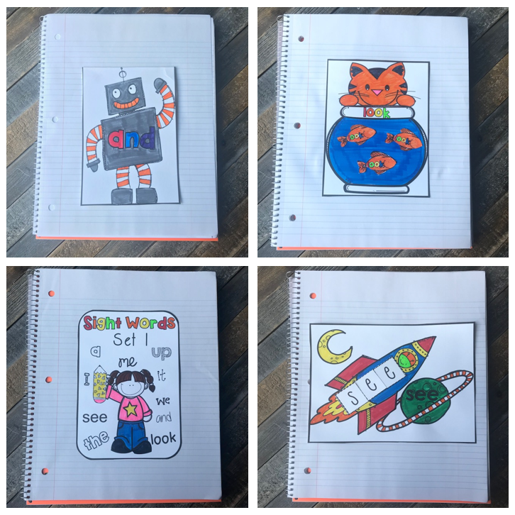 Game Changing Sight Word Activities for Kindergarten ~Interactive Notebooks