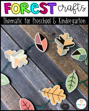 Forest Crafts for Kids for Preschool and Kindergarten Hands on Activities for Preschool
