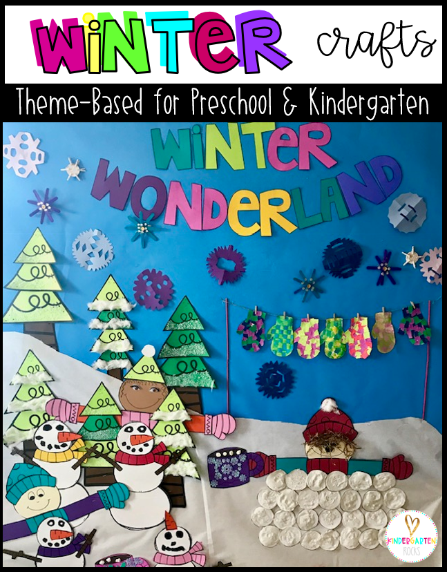 Winter Crafts for Kids Preschool and Kindergarten