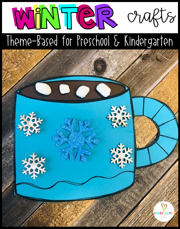 Are you looking for a fun age appropriate crafts for kids?  Then you will love Winter Crafts for Kids.  This unit is perfect for winter, snowmen, December and January themed units.  Increase student vocabulary and readiness skills as they are completing fun crafts.   Students will build fine-motor skills and strengthen their ability to follow multiple step directions.