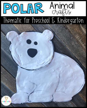 Are you looking for a fun age appropriate crafts for kids?  Then you will love Polar Animal Crafts for Kids.  This unit is perfect for winter, December and January themed units.  Increase student vocabulary and readiness skills as they are completing fun crafts.