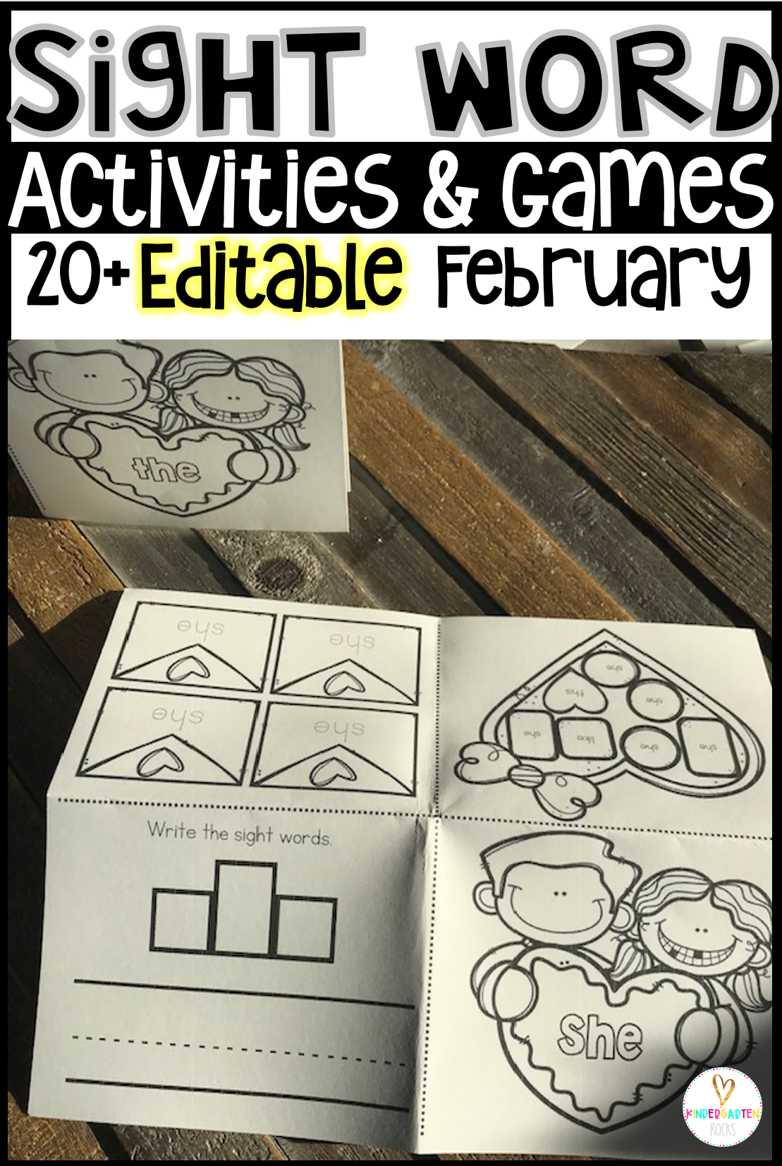 sight word activities games february