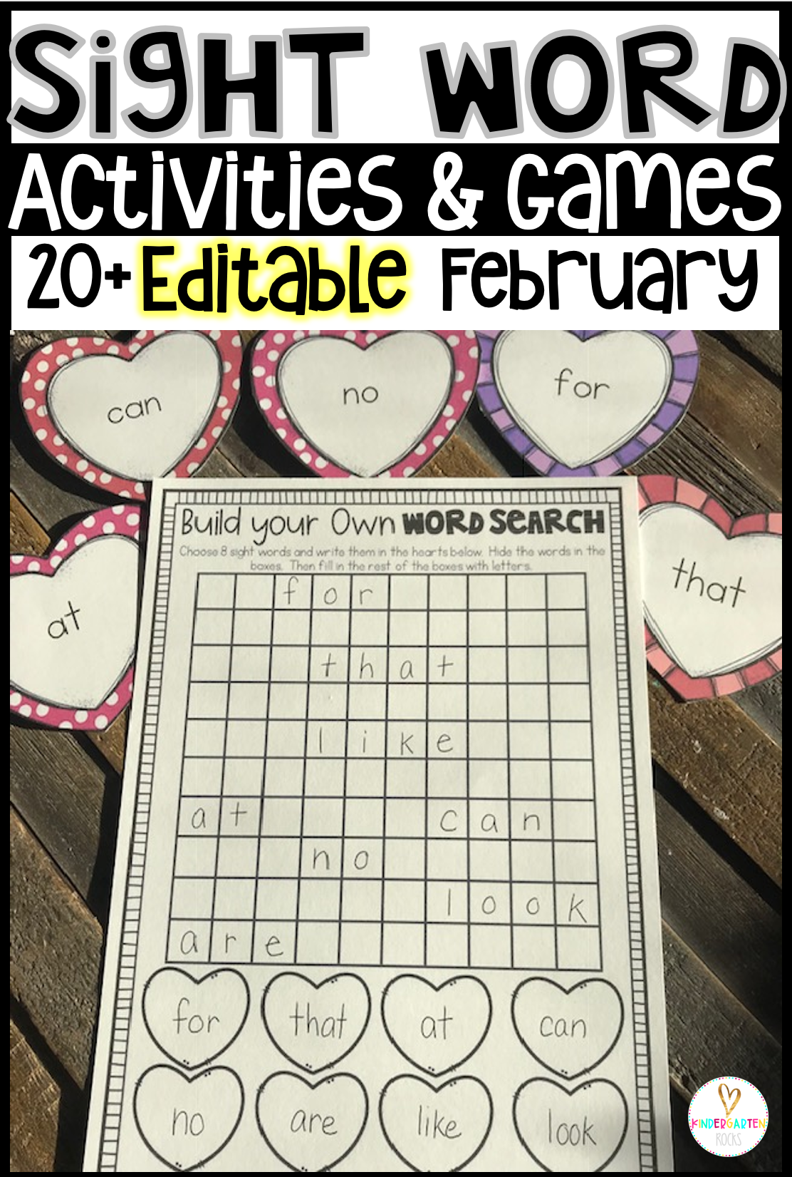 20 editable sight word activities games