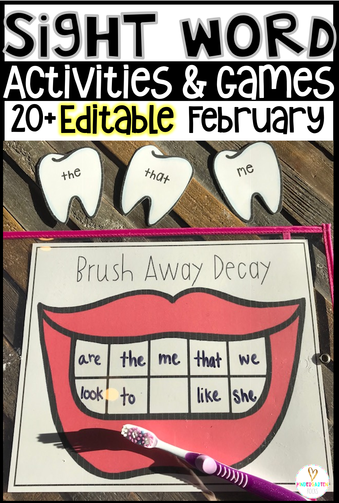 Valentine's Day sight word games