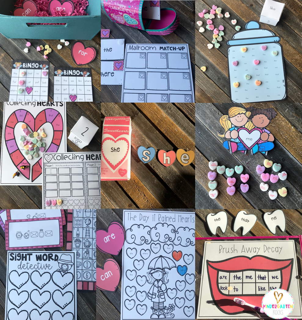 Valentine's Day Sight Word Games and Activities (Editable) February
