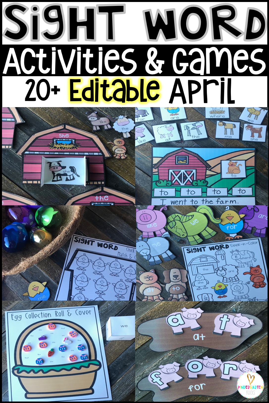 Are you looking for spring sight word activities that you can change to meet the needs of your kindergarten and/or first grade children?   Then, you will love Spring Sight Word Games, Activities and Printables for the month of April.