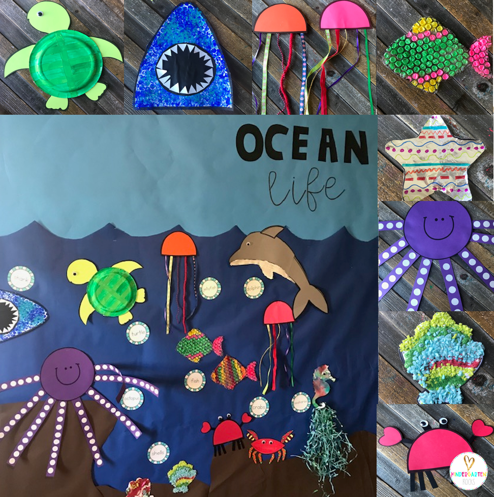 Ocean Crafts for Preschool with Visual Directions