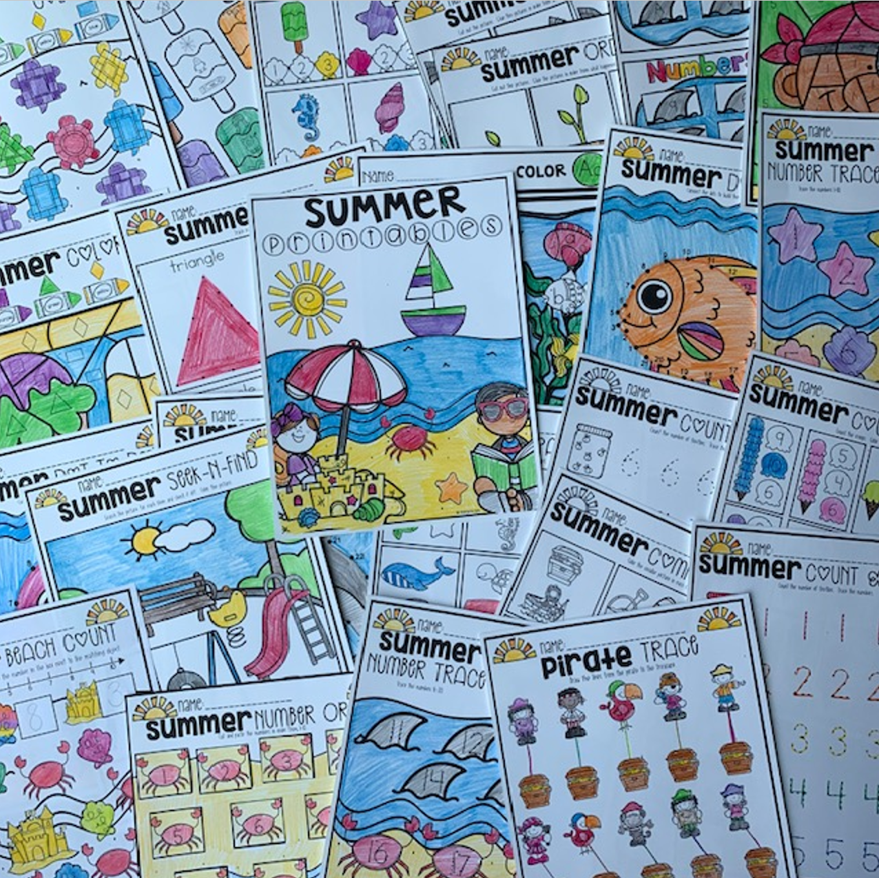 Summer Printables for Preschool Getting Ready for Kindergarten