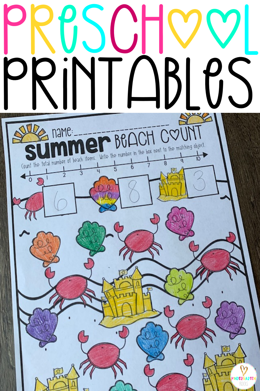 Are you looking for fun and engaging preschool worksheets and printables for the summer and to help your children get ready for kindergarten? Then, you will love Preschool Printables!