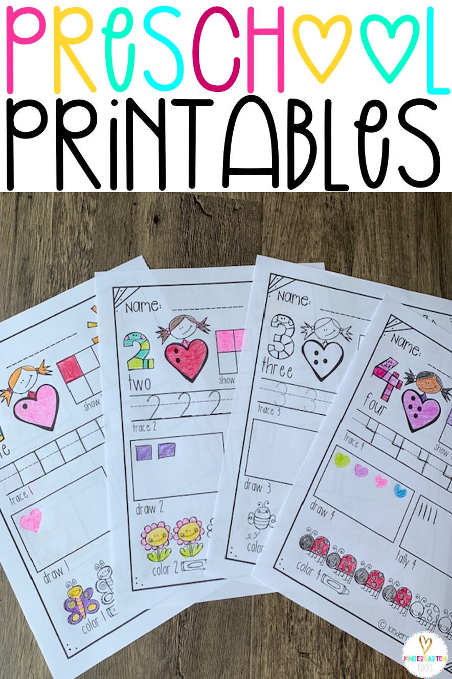 Are you looking for fun and engaging preschool worksheets and printables for the summer and to help your children get ready for kindergarten? Then, you will love Preschool Printables! #preschool #printables #activities #gettingreadyforkindergarten #worksheets