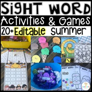 summer themed sight word activities