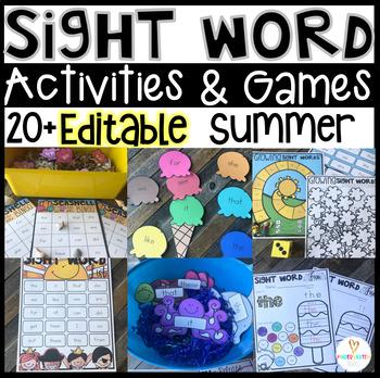 summer themed sight word activities
