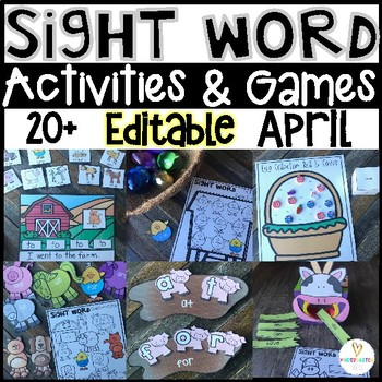 Editable Sight Word Games