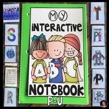 Alphabet Notebook P-U