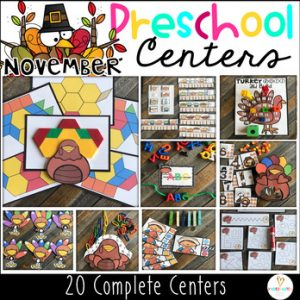 Preschool Thanksgiving Centers