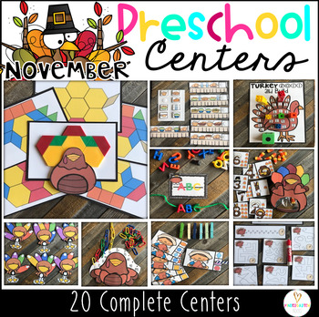 Preschool Thanksgiving Centers