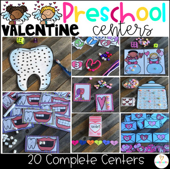 Valentine's Day February Math and Literacy