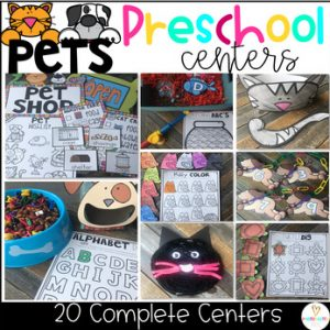 Pet Math and Literacy Centers