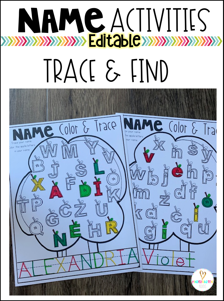 Are you looking for a variety of editable name activities you can use with your classroom and home-schooled children to help them learn how identify, build, spell and write their name?  Then you will love our editable name activities.  #backtoschool #nameactivities