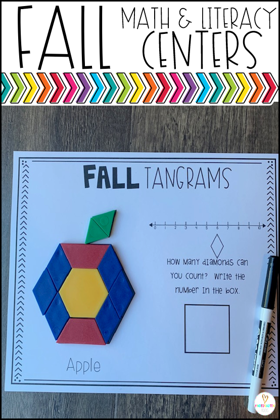 Fall Math and Literacy Centers  is over 212 pages full of fun hands-on math and literacy centers that are perfect for your kindergartners to help build a strong foundation in math, number sense and literacy skills. All the centers are common core aligned and encourage independence.