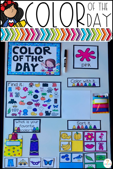 Are you looking for fun color activities to help your little ones master color identification? Check out Color of the Day Calendar Companion.