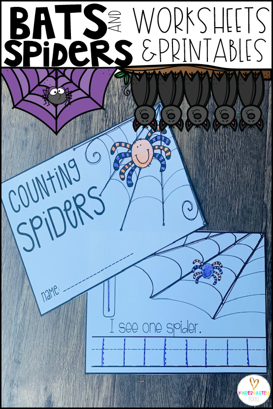 Spiders and Bats Math and Literacy Worksheets for Preschool is a no prep packet packed full of worksheets and printables to help reinforce and build literacy and math skills in a fun, engaging way. This unit is perfect for the fall months of preschool. All of the printables are aligned with the early learning standards and encourage independence. This packet is great for centers, homework and homeschooling. There are lots of opportunities for differentiation within.