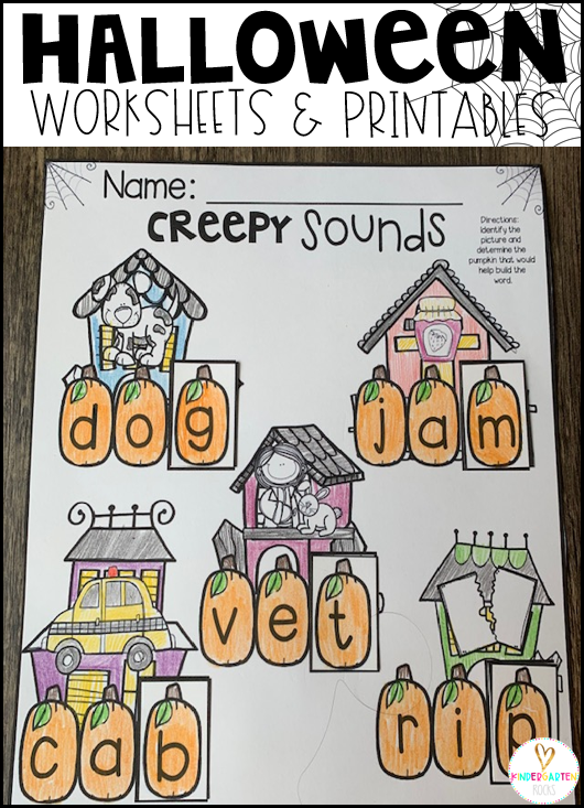 Halloween Activities for Kindergarten Creepy Sounds