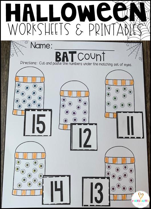 Halloween Activities for Kindergarten Bat Count