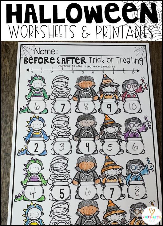 Halloween Activities for Kindergarten Trick & Treating