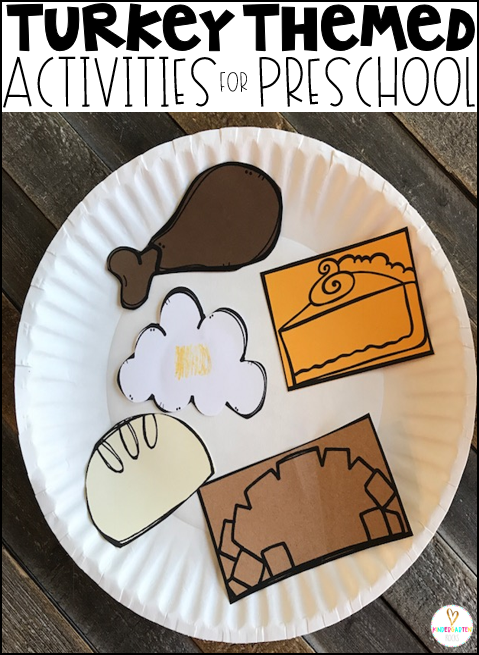 Are you looking for a fun hands-on turkey and Thanksgiving (thankful) themed unit that revolves around amazing stories?  Then, you will love Turkey and Thanksgiving Themed Book-Based Unit for Preschool.  This unit will not only help children learn new vocabulary, it will also help them build important math and literacy skills. #turkeyactivities #preschool