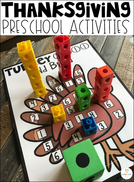 Turkey Activities are fun themed centers and activities for Thanksgiving and Fall throughout the month of November.