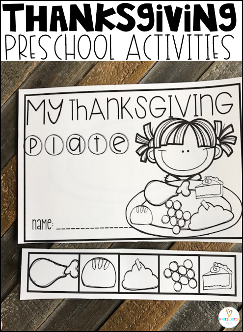 My Thanksgiving plate is a great vocabulary building activity for your thanksgiving themed centers.