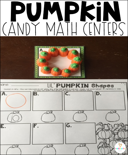 Are you looking for hands on math centers for your kindergarten classroom?  Then, Pumpkin Candy Math Centers will be a hit in your classroom!