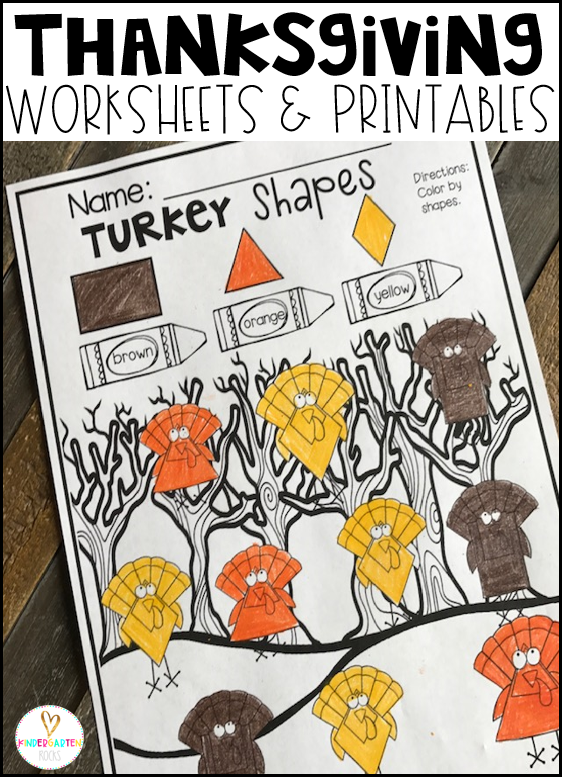 Thanksgiving Worksheets for Preschool is a no prep packet packed full of worksheets and printables to help reinforce and build literacy and math skills in a fun, engaging way. This unit is perfect for the fall months of preschool. All of the printables are aligned with the early learning standards and encourage independence.